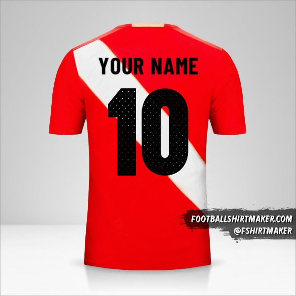 Peru 2018 II jersey number 10 your name