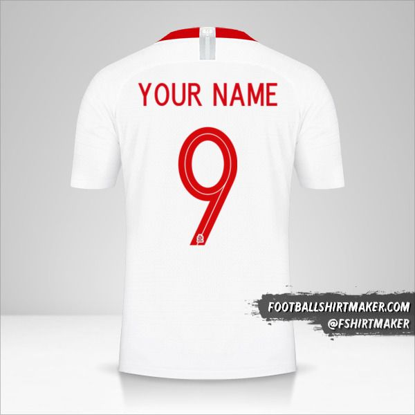 Poland jersey 2018 number 9 your name