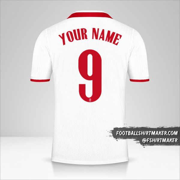 Poland 2020/2021 jersey number 9 your name
