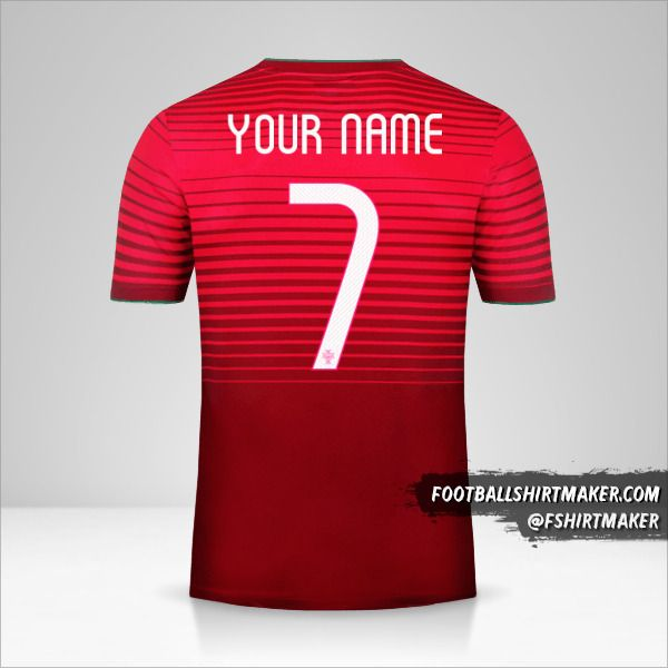Portugal 2014/15 jersey number 7 your name