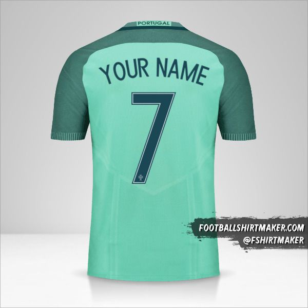 Portugal 2016 II jersey number 7 your name
