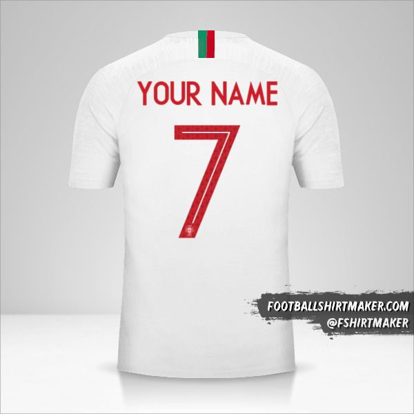 Portugal 2018 II jersey number 7 your name