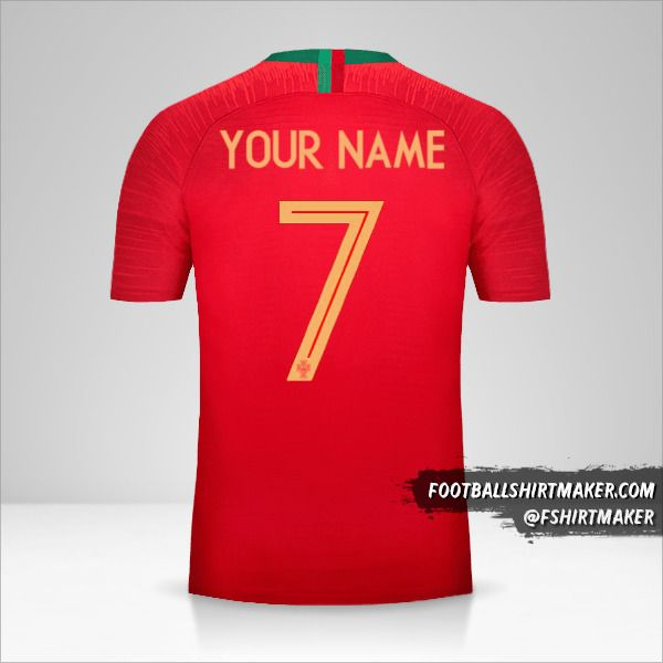 Portugal 2018 jersey number 7 your name