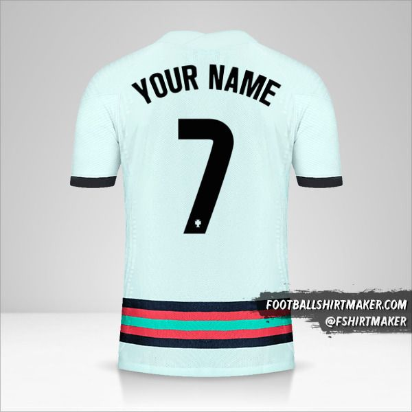 Portugal 2020/2021 II jersey number 7 your name