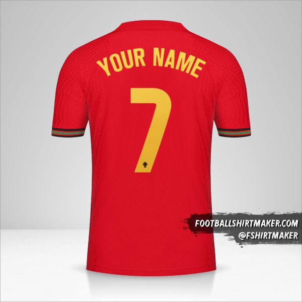 Portugal 2020/2021 jersey number 7 your name