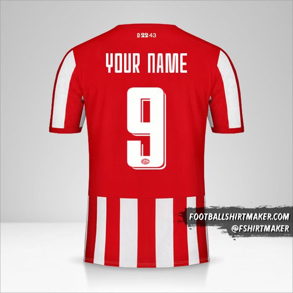 PSV 2019/20 Cup jersey number 9 your name