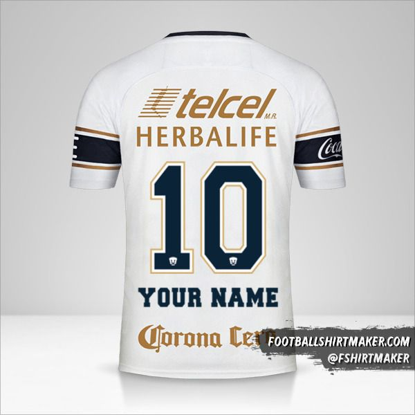 Pumas UNAM 2017/18 jersey number 10 your name