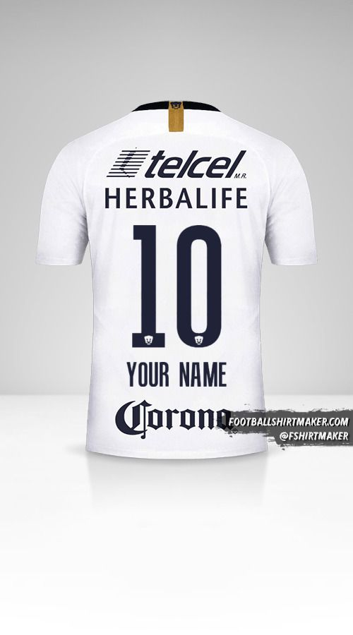 Pumas UNAM 2018/19 jersey number 10 your name