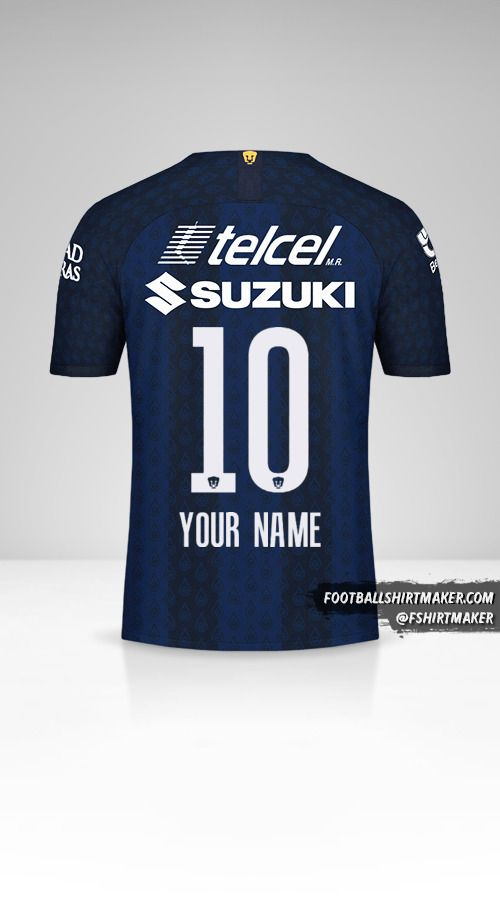 Pumas UNAM 2019/20 II jersey number 10 your name