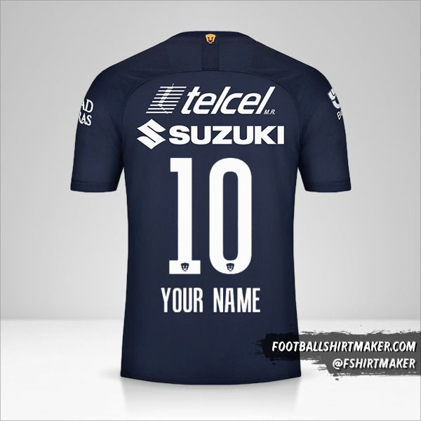 Pumas UNAM 2019/20 III jersey number 10 your name