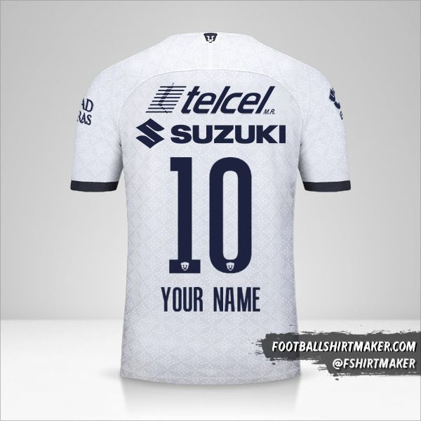 Pumas UNAM jersey 2019/20 number 10 your name
