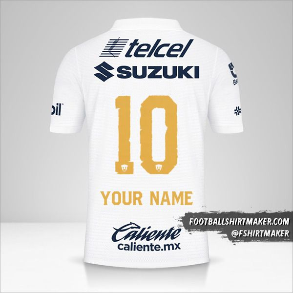 Pumas UNAM 2021/2022 jersey number 10 your name