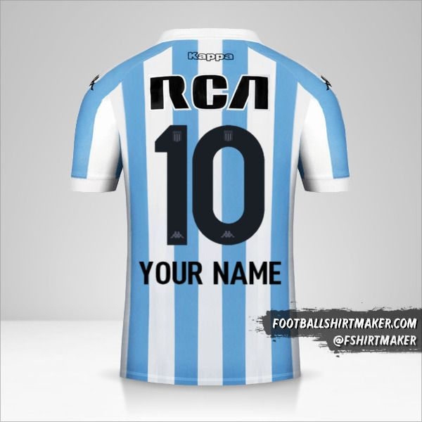 Racing Club 2018 jersey number 10 your name