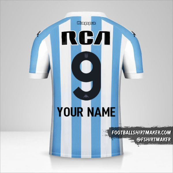 Racing Club jersey 2018 number 9 your name