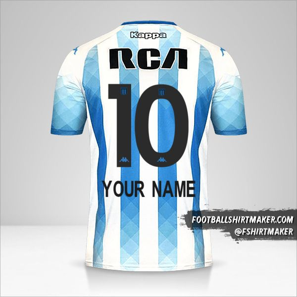 Racing Club 2019 jersey number 10 your name