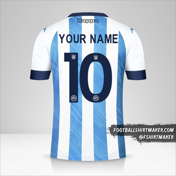 Racing Club 2021 jersey number 10 your name