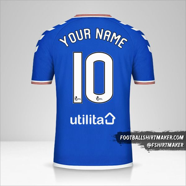 Rangers FC 2019/20 jersey number 10 your name