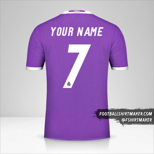 Real Madrid CF 2016/17 II jersey number 7 your name
