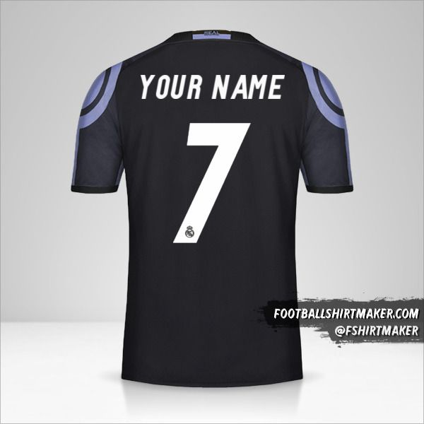 Real Madrid CF 2016/17 III jersey number 7 your name