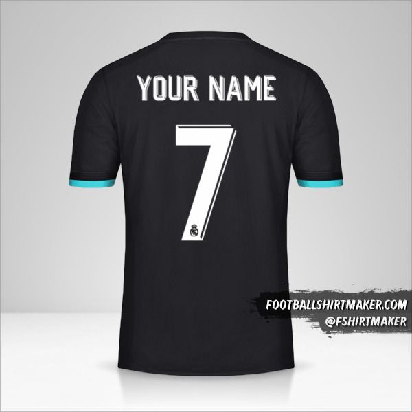 Real Madrid CF 2017/18 Cup II jersey number 7 your name