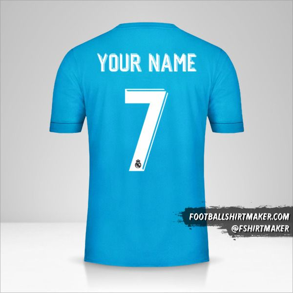 Real Madrid CF 2017/18 Cup III jersey number 7 your name