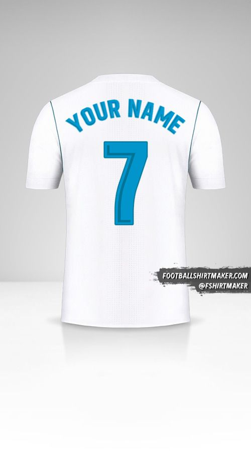 Real Madrid CF 2017/18 jersey number 7 your name