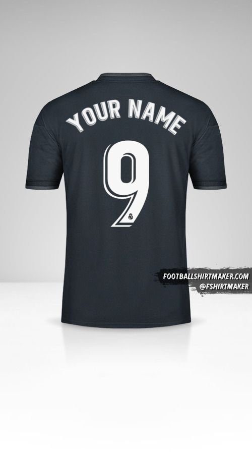 Real Madrid CF 2018/19 II jersey number 9 your name