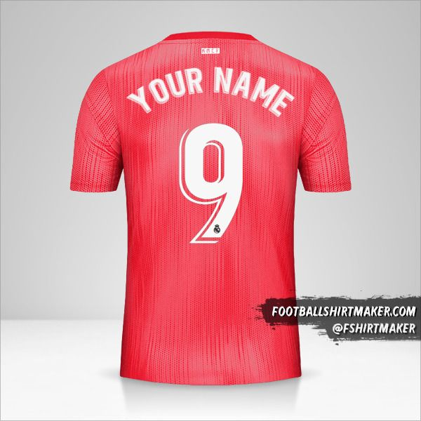 Real Madrid CF 2018/19 III jersey number 9 your name