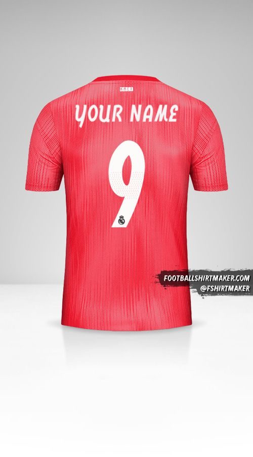 Real Madrid CF 2018/19 Cup III jersey number 9 your name
