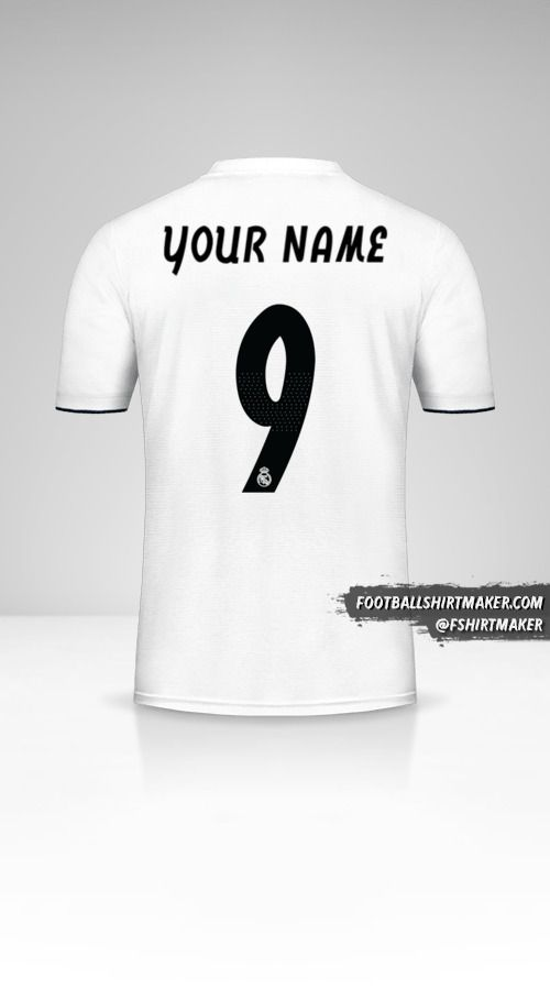 Real Madrid CF 2018/19 Cup jersey number 9 your name