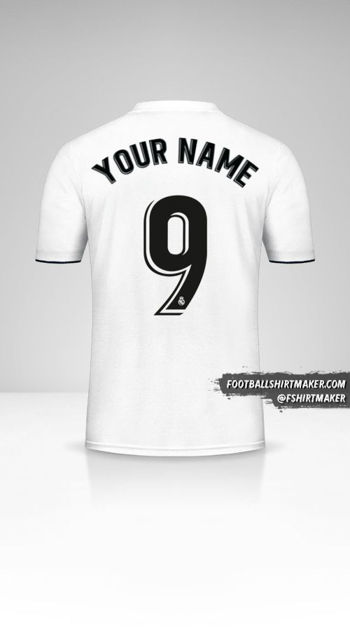 Real Madrid CF 2018/19 jersey number 9 your name