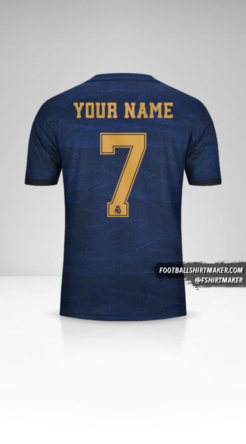 Real Madrid CF 2019/20 Cup II  jersey number 7 your name