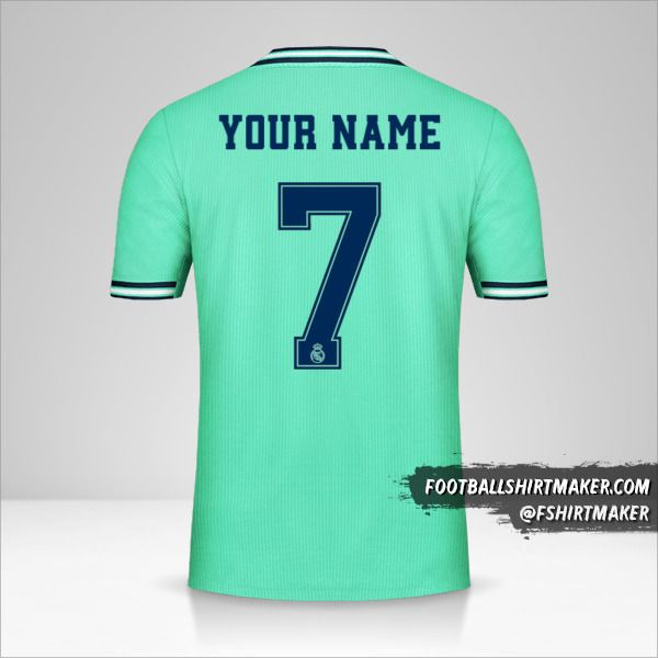 Real Madrid CF 2019/20 Cup III jersey number 7 your name