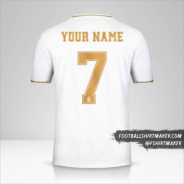 Real Madrid CF 2019/20 Cup jersey number 7 your name