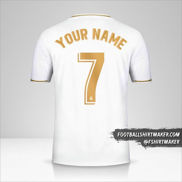 Real Madrid CF jersey 2019/20 number 7 your name