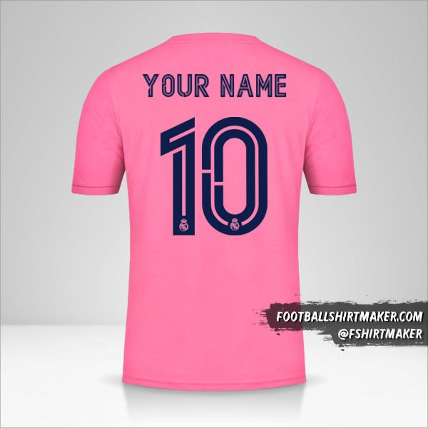 Real Madrid CF 2020/21 Cup II jersey number 10 your name