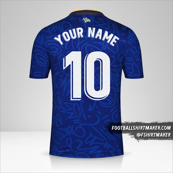 Real Madrid CF 2021/2022 II jersey number 10 your name