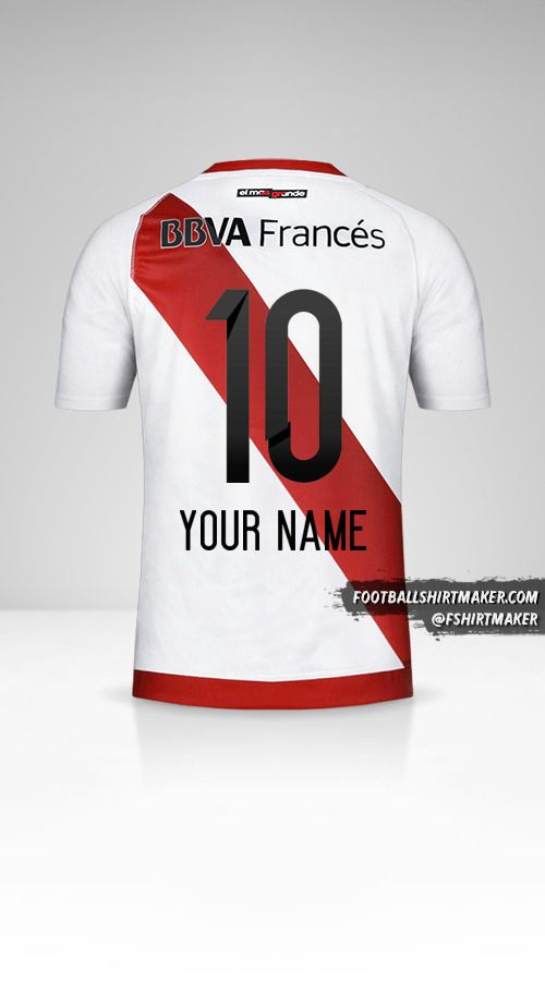 River Plate 2016/17 jersey number 10 your name
