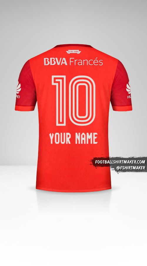 River Plate 2017/18 II jersey number 10 your name