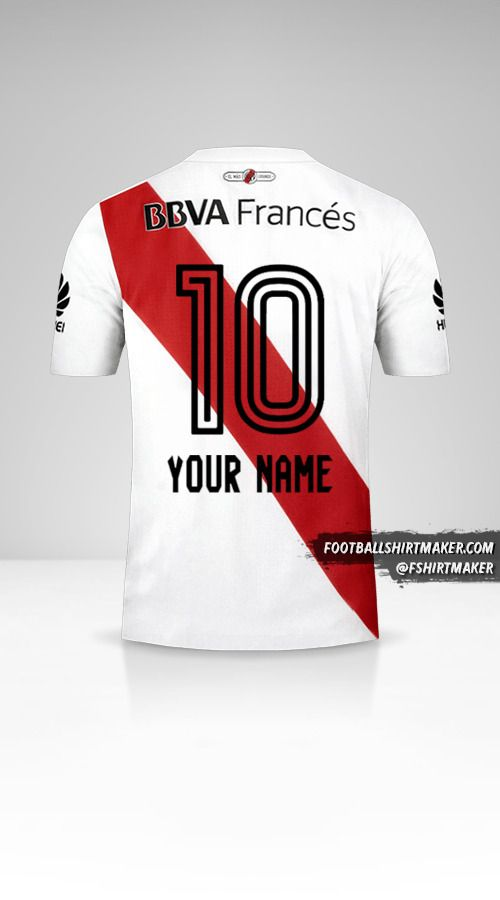 River Plate 2017/18 jersey number 10 your name