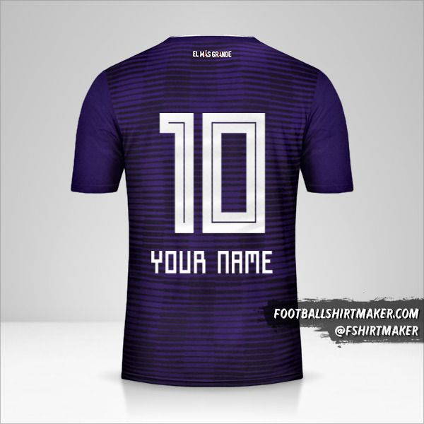 River Plate 2018 II jersey number 10 your name