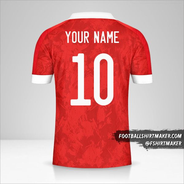 Russia 2020/2021 jersey number 10 your name