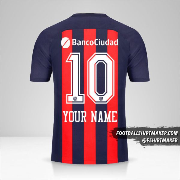 San Lorenzo 2018 jersey number 10 your name