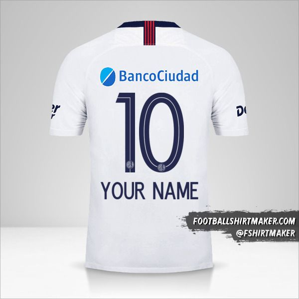 San Lorenzo 2019 II jersey number 10 your name