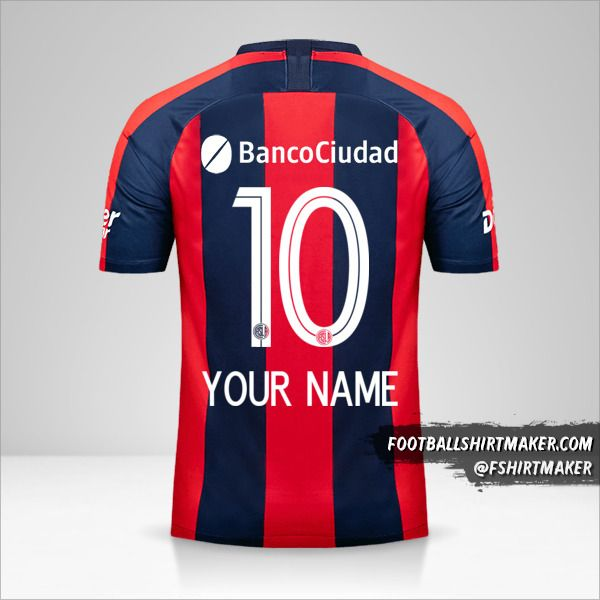 San Lorenzo jersey 2019 number 10 your name