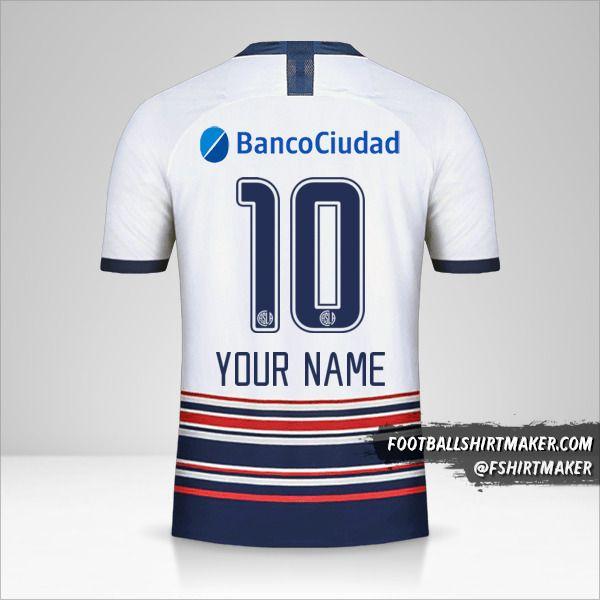 San Lorenzo 2020 II jersey number 10 your name
