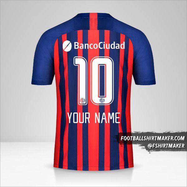 San Lorenzo 2020 jersey number 10 your name