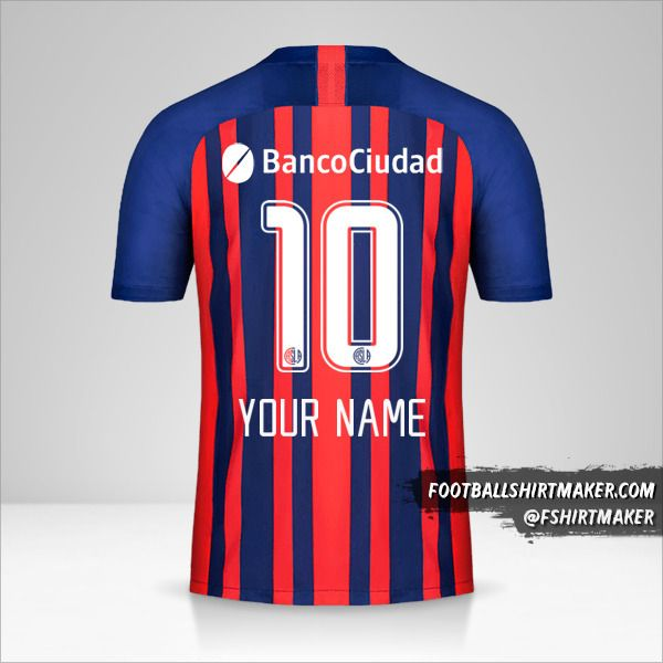 San Lorenzo 2020 jersey number 10 your name