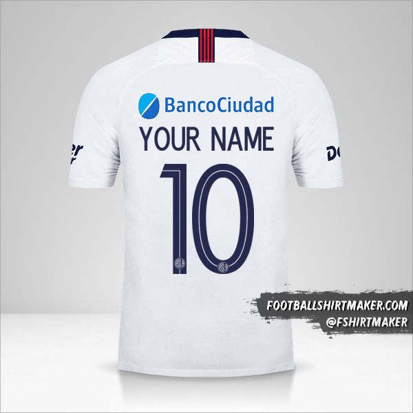 San Lorenzo Libertadores 2019 II jersey number 10 your name