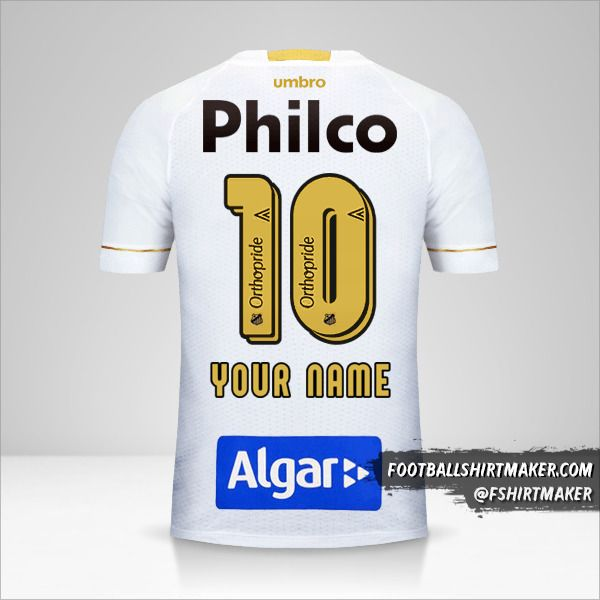 Santos FC 2018 jersey number 10 your name